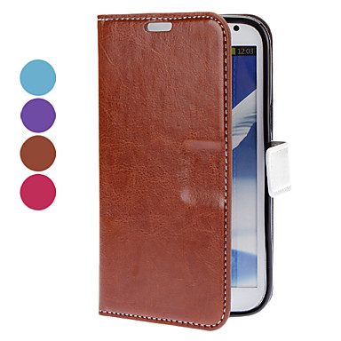 Solid Color PU Leather Case with Stand and Card Slot for Samsung Galaxy Note 2 N7100 (Assorted Colors)