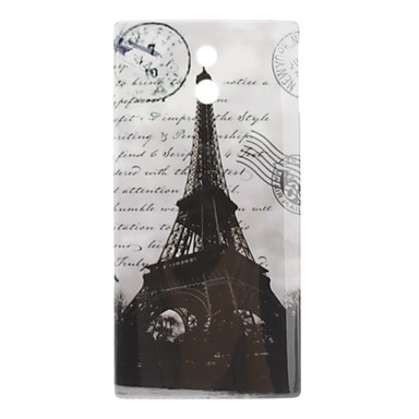 Eiffel Tower Pattern Hard Case for Sony Xperia P LT22i
