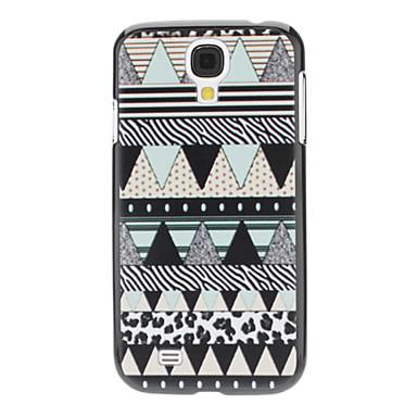 Samsung Galaxy S4 I9500 için Nane Yeşil Geometrik Desen Hard Case