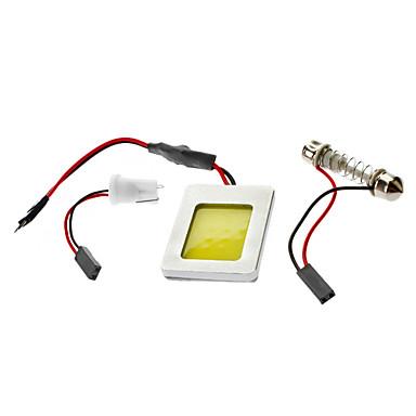 T10/BA9S/Festoon 4W Bianco PANNOCCHIA della luce LED lampadina per la lampada di lettura auto (12V)