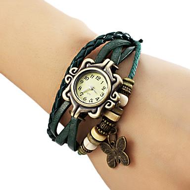 Women's Quartz Bracelet Watch Casual Watch PU Band Butterfly / Bohemian / Fashion Black / Blue / Brown / Green