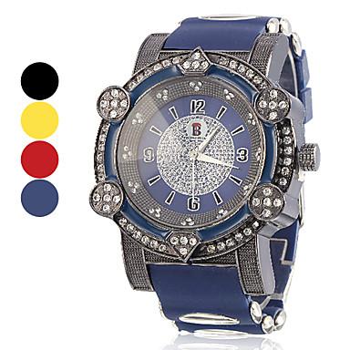 Unisexe Grand Style du Cadran analogique silicone Montre-bracelet à quartz (couleurs assorties)