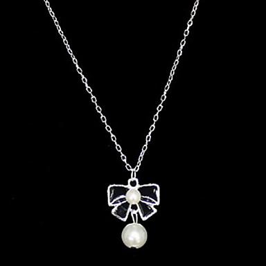 Attractive Alloy With Pearl/Bowknot Women's Necklace(More Colors)