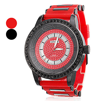 Unisexe Grand Style du Cadran silicone analogique montre-bracelet à quartz (couleurs assorties)