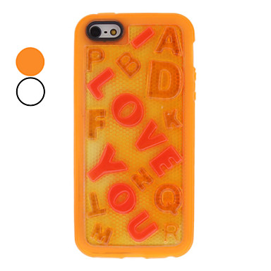 Noctilucent I Love You Embossed Design PU Soft Case for iPhone 5/5S (Assorted Colors)