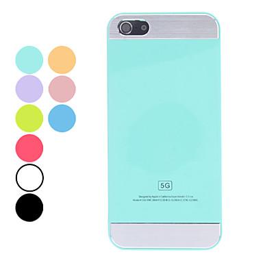 iphone 5/5s (çeşitli renklerde) için basit bir tasarım düz renk zor durumda
