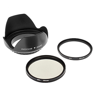 Insten UV + CPL 58mm + Pare-Soleil pour CANON S3IS S5 G7 G9 G10 S2 IS