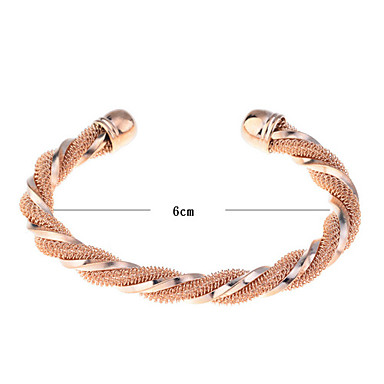 Lureme®Gold Plated Twisted Bracelet Cuff