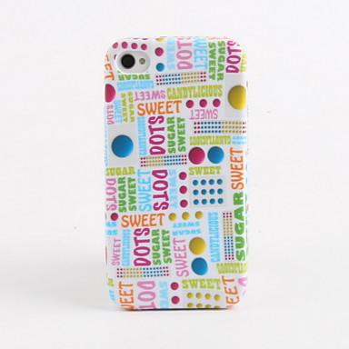 sokeria pisteitä kuvio pehmeä kotelo iPhone 4 ja 4S
