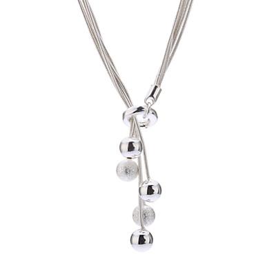 Uçlu Kolyeler - Som Gümüş, Titanyum Çelik, Gümüş Gümüş Kolyeler Uyumluluk Günlük