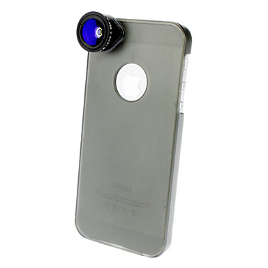 0.68X Wide Angle and 1.5X Macro Lens with Ultraslim Matte PC Hard Case for iPhone 5 (Optional Colors)