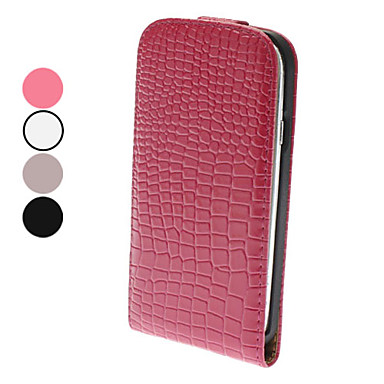 Flip-Open Design Noble Alligator Grain Leather Case for Samsung Galaxy S3 I9300