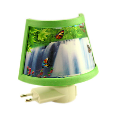 Waterfall Surrounded By A Half LED Night Light(110V-240V)
