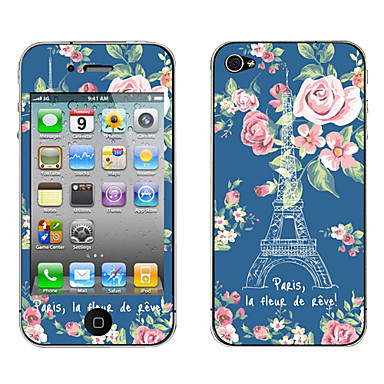 The Art Eiffel Tower Pattern Body Sticker for iPhone 4/4S