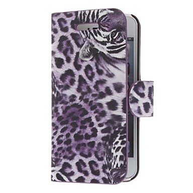 Tiger Pattern Twill PU Leather Full Body Case for iPhone 5 (Optional Colors)