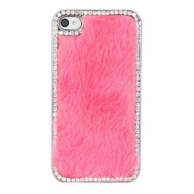 Diament Plush Case Powrót Wzór dla iPhone 4/4S