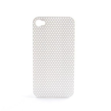 Ultra Thin Rubber Matte Mesh Hard Case Cover for iPhone 4 and 4S (White)