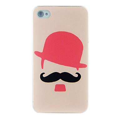 chapéu bigode vermelho polonês maçante gravura em relevo de volta para o iPhone 5 / 5s