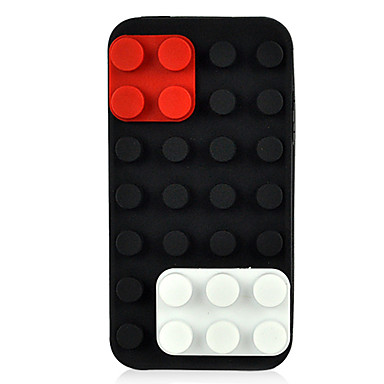 Silicone Skin Soft Back Case Cover Protector For Apple Iphone 4 4G 4S Black