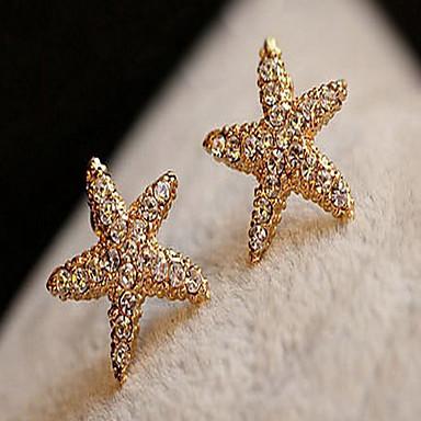 Vidali Küpeler alaşım Star Shape Mücevher Için Parti Günlük