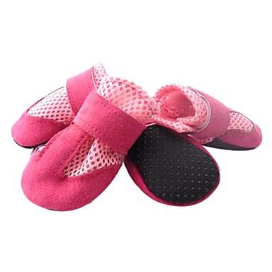 Chien Chaussures & Bottes Garder au chaud Couleur Pleine Noir Rouge Bleu Rose Pour les animaux domestiques