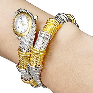 Kadın's Moda Saat Bilezik Saat Quartz Alaşım Bant Halhal Zarif Gümüş Altın Rengi