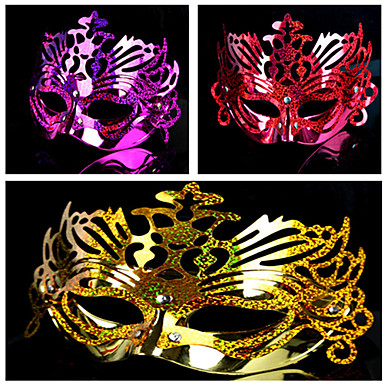 Masquerade Electroplated Retro Halloween Mask(Assorted Color)