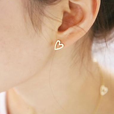 Kadın's Vidali Küpeler - Kalp minimalist tarzı, Moda Altın / Gümüş Uyumluluk Parti Günlük