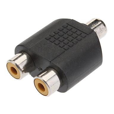 1-2 Nő RCA Plug AV Splitter Adapter