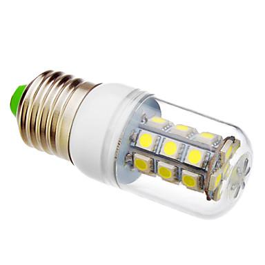 1pc 3 W 230lm E26 / E27 LED Mısır Işıklar T 27 LED Boncuklar SMD 5050 Serin Beyaz 220 V