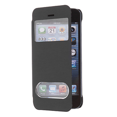 Advanced Auto Sleep and Wake up Smart Full Body Case with Two Front Windows for iPhone 5C (Assorted Colors)