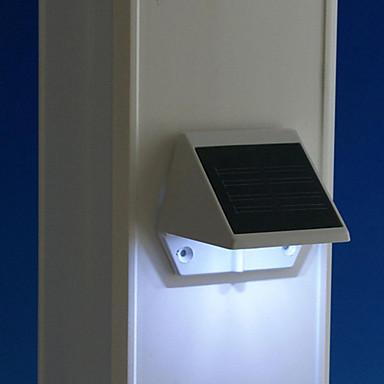 billige LED & Belysning-1pc soldrevne 4led udendørs have ledede sti dæk sti trappe lys væg lampe