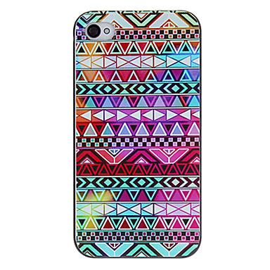 IPhone 4/4S için renkli Geometrik Şekiller Desen Koruyucu Hard Case