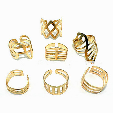 (1Pc는) 유행 여자 황금 합금 반지 (황금)