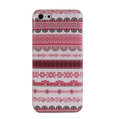 iphone 5c için zengin dekoratif desen parlak plastik geri kabuk
