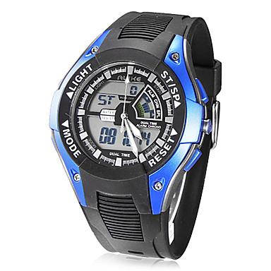 Men's Multi-Function Analog-Digital Dial Rubber Band Quartz Analog Wrist Watch (Assorted Colors)