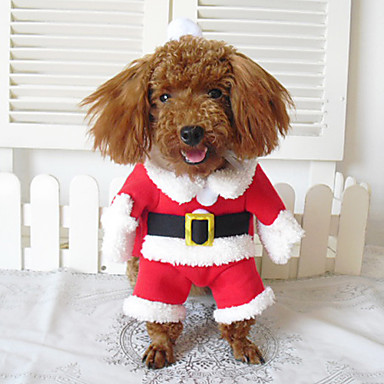 Dog Costume / Coat / Bandanas & Hats / Outfits Red Winter Cosplay / Christmas / Halloween