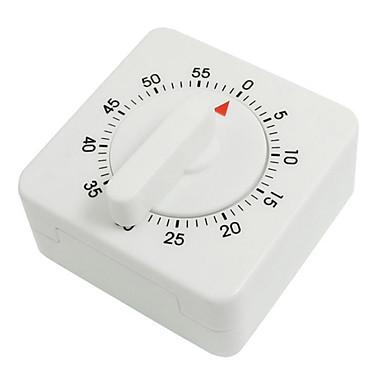 beyaz plastik kare mutfak pişirme için zamanlayıcı pişirme 55 dakika şeklinde