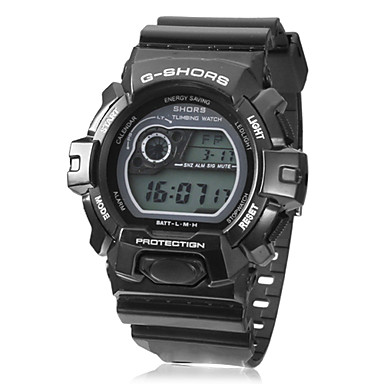 Men's Sporty Multi-Function LCD Dial Rubber Band Wrist Watch (Assorted Colors) Cool Watch Unique Watch