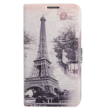 Colored Drawing Forest Irony Leather Case for Samsung Galaxy Note 2 N7100