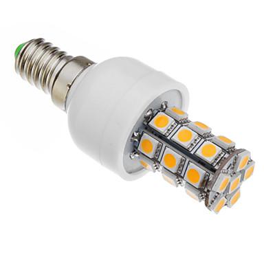 530-560 lm E14 LED Mısır Işıklar T 27 led SMD 5050 Sıcak Beyaz AC 85-265V