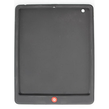 Soft Silicon Case for iPad 2 with One Button (Black)