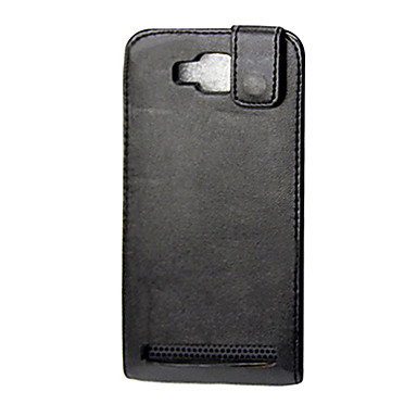 Black PU Leather Full Body Flip Case for Samsung I8750 Ativ S and Other 4.5 Inch Android Phone