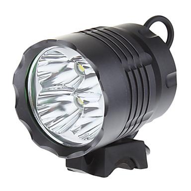 رخيصةأون اضواء الدراجة-مصابيح أمامية اضواء الدراجة LED Cree® XM-L T6 4 بواعث 3200 lm 3 إضاءة الوضع فص الموضع المصطدم Camping / Hiking / Caving أخضر صيد السمك