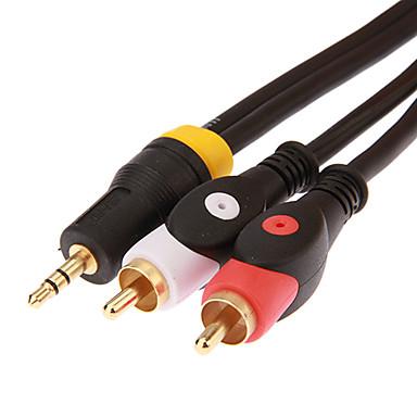 2 rca erkek ses kablosu için jsj® 1,8 5.904ft 3.5mm stereo erkek - siyah