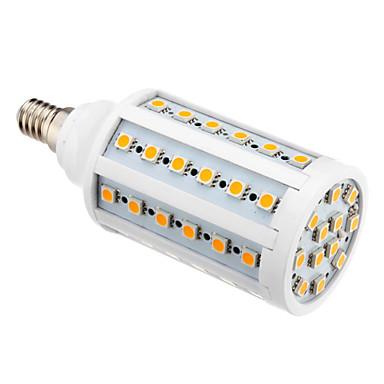 850-890 lm E14 LED Mısır Işıklar T 60 led SMD 5050 Sıcak Beyaz AC 220-240V