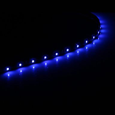 0.5m Esnek LED Şerit Işıklar 15 LED'ler 1210 SMD Beyaz / Mavi Araçlar İçin Uygun / Kendinden Yapışkanlı 12 V 1pc