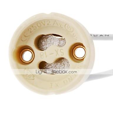 zdm 1pc gu10 soclu bec lampă halogen lampă suport conector de sârmă ceramică