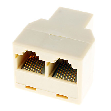 2 LAN Ağ Kablosu Y Splitter Extender Tak RJ45 1