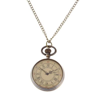 Kadın's Moda Saat Kolye Saatleri Cep kol saati Quartz Alaşım Bant Vintage Bronz